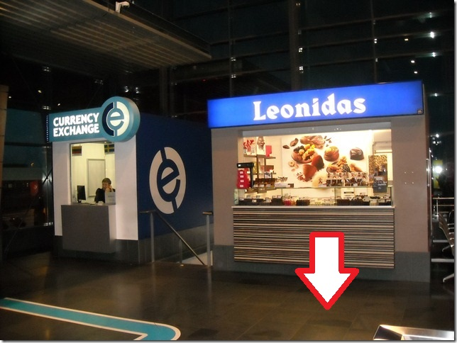 charleroi airport taxi transfer meeting point leonidas chocolate shop