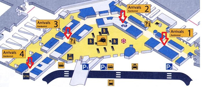 amsterdam schiphol airport taxi transfer meeting point